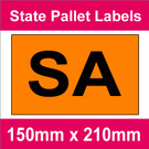 State Packaging and Pallet Labels - SA (5 rolls @ 465 labels/roll)