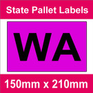 State Packaging and Pallet Labels - WA (5 rolls @ 465 labels/roll)