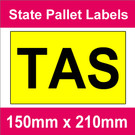 State Packaging and Pallet Labels - TAS (1 roll @ 465 labels/roll)