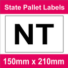State Packaging and Pallet Labels - NT (1 roll @ 465 labels/roll)