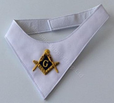 Masonic Cravat  White