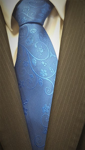Masonic Tie  Royal Blue with Wreath Design