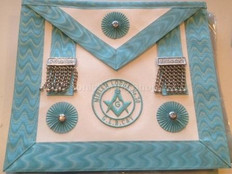 Master Master  Apron with Lodge Badge