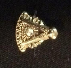 Lapel Pin Past Master – PM Protractor with Stone