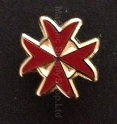 Lapel pin Red Maltese Cross