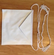 Entered Apprentice White Lambskin Presentation Apron  13 X 15 Rope Belt
