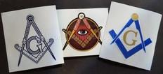 Discount  Masonic Decal   3 pak