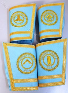 Lodge Officer Gauntlets/Cuffs with Emblem  Gold