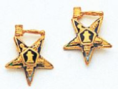 Eastern Star Earrings Past Master Gavel - MAS965ERPM
