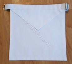White Cotton Apron  14 X 16