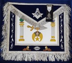 Shrine Custom Master Mason Apron, Apron Case and Jewel Special