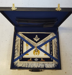 Shrine Custom Master Mason Apron and Case Special
