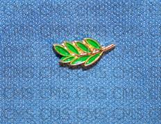 Green Sprig of Acacia Lapel Pin