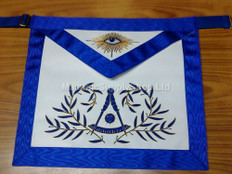 Past Masters aprons with Embroidered wreath
