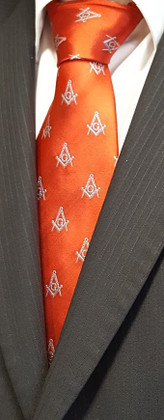 Masonic Red Tie