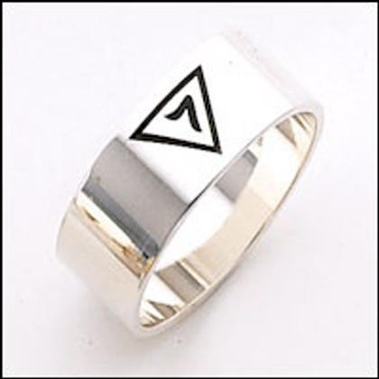 Scottish Rite Ring 04  14th Degree Silver