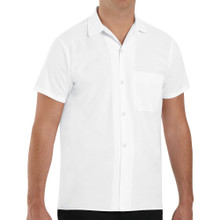 Unisex Button Front Cook Shirt, White, size:S-4XL
