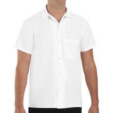 Unisex Snap Front Cook Shirt, White, size:S-5XL