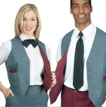 Henry Segal Women's and Men's Grey and Burgundy Reversible Vest