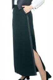 Henry Segal Floor Length Tuxedo Skirt (size 2-28)