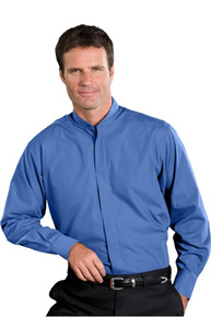 Edwards Men's LS Banded Collar Shirt (More Colors) 1396
