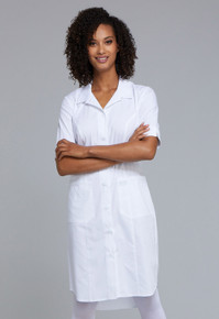 Cherokee Workwear White Button Front Scrub Dress WW500