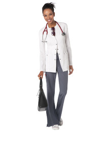 "28"" Dickies Xtreme Stretch Women's White Lab Coat (XS-3X)"