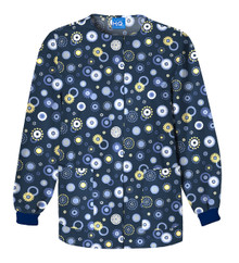 Cherokee Women's Warm-Up Jacket 4350, Dots Wonderful