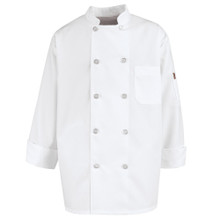 10 Button Chef Coat, 65poly/35cotton (S-4XL)