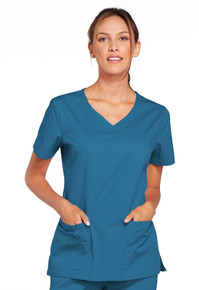 Cherokee Workwear Core Stretch Women's V-Neck Solid Scrub Top 4727