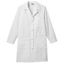 "38"" Meta Women's Ipad Cotton Knot Button Lab Coat (0-20,Tall 8-20)"