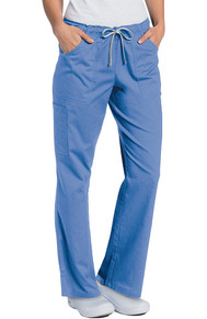 Landau All Day Women's Full Elastic Cargo Scrub Pant 2035