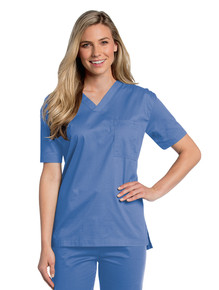 Landau All Day Unisex V-Neck Scrub Top 4139