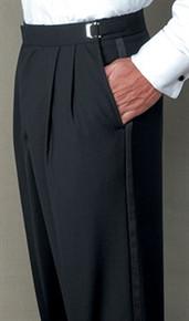 Henry Segal Men's Adjustable-Waist Pleated Front Tuxedo Pants