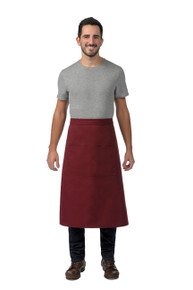 Daystar 128 Full Bistro Apron with Center Divided Pocket