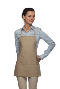 "22"" Two Pocket Promo Bib Apron"
