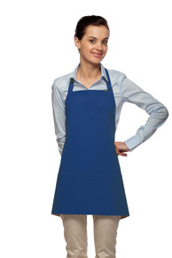 "Daystar 201 24"" Three Pocket Bib Apron w/Pencil Pocket"