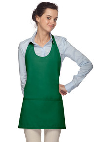 "Daystar 305 28"" Three Pocket Scoop Neck Apron"