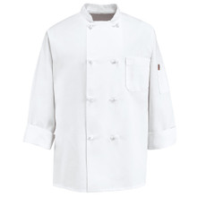 Unisex 8 Knot Chef Coat w/Thermometer Pocket, size:S-3XL