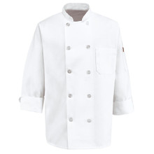Unisex 10 Button Basic Chef Coat, 100% spun poly (XS-5XL)