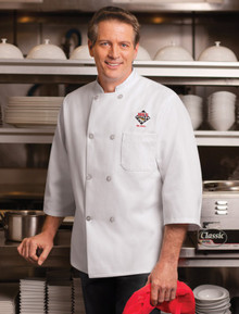 8 Button 3/4 Sleeve Chef Coat, size:S-4XL