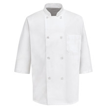 8 Button 1/2 Sleeve Chef Coat, size:S-4XL