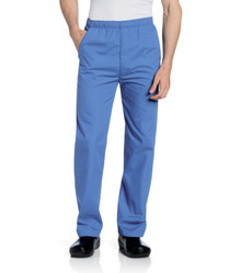 Landau Men's Elastic Zipper Fly Scrub Pant 8550