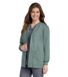 Landau Women's Warm-Up Solid Scrub Jacket 7525