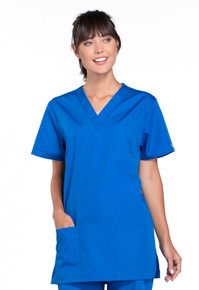 Cherokee Workwear Unisex 3 Pocket Scrub Top 4876