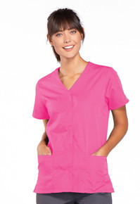 Cherokee Workwear Women's Snap-Front Top 4770