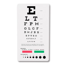 Pocket Eye Chart - Snellen