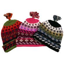 Striped/Geometric Beanie Hat