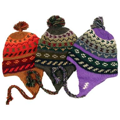 Striped/Geometric Chullo Hat