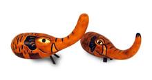 """Hand Carved Gourd Elephant 7"""" Peru"""